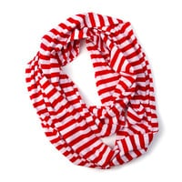 Candy Cane Striped Infinity Scarf