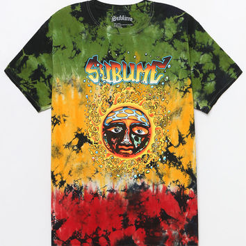 Sublime Rasta Tie-Dye T-Shirt at PacSun.com