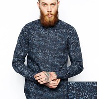 ASOS Smart Shirt In Long Sleeve With Skull Camo Print