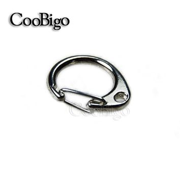 "10pcs Pack 1-1/16""Length Metal Lobster Clasps Round Snap Hook Key Chain Ring Bag Parts Paracord Straps Knife Lanyard#FLQ031"