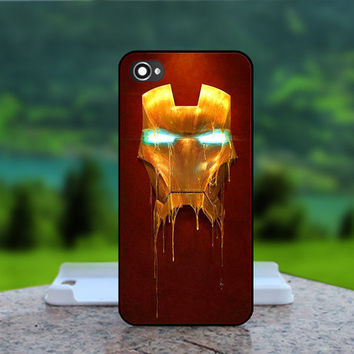 Cool Iron Man Melting Face  - Photo Print in Hard Case - For iPhone 4 / 4s Case , iPhone 5 Case - White Case, Black Case (CHOOSE OPTION )