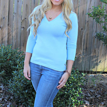 525 America: Cameron Sweater, Blue