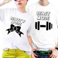 Beauty And Beast Couples Matching Shirts, Couples T Shirts, Funny Couple Shirts