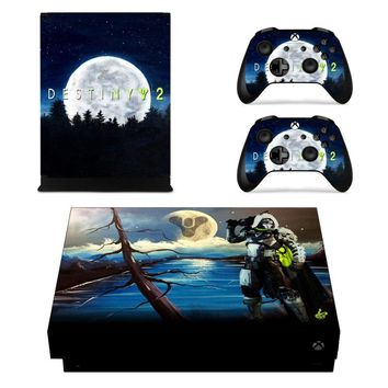 X0055 Game accessories Skin Sticker for Microsoft Xbox One X Console and 2 Controllers skins Stickers for XBOXONE X Enhanced