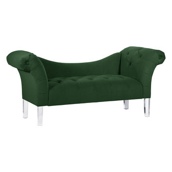 Platinum Collection by SF Designs Tufted Lounge Chaise - Green