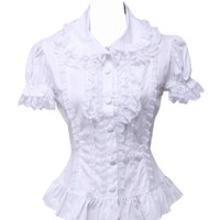White Lace Cotton Lolita Blouse