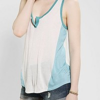 BDG Colorblock Split Henley Tank Top
