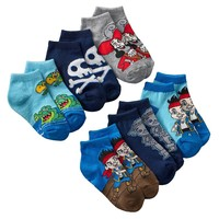 Disney Jake and the Neverland Pirates 6-pk. 1/4-Crew Socks - Toddler, Size: 2T-4T (Blue)