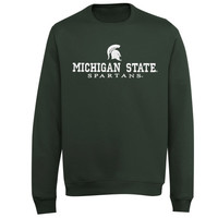 Michigan State Spartans Block V-Notch Sweatshirt - Forest Green