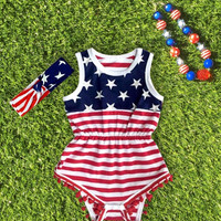 Baby Girls and Toddler 4th of July Romper
