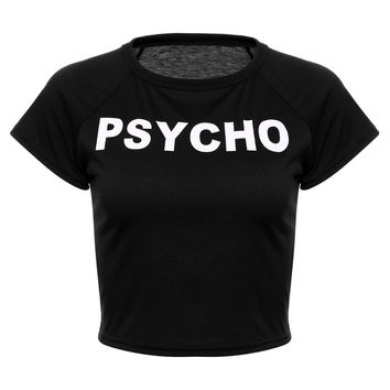 Psycho Cropped Tee Shirt