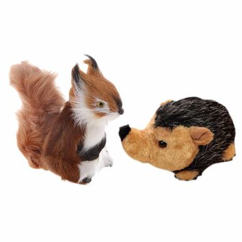 SPMART cute Stuffed Plush squirrel Hedgehog Doll Toy Gift for kits