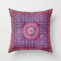 Old Bookshop Magic Mandala Throw Pillow by Octavia Soldani | Society6