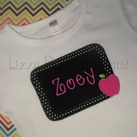 Back to School applique shirt- Kindergarten shirt- Back to School