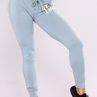 Be My Lover Jogger - Teal