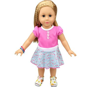 Doll Clothes Dress Accessories For 18 inch Our Generation American Girl Doll