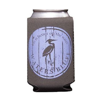Wood Grain Can Holder in Slate Grey by Waters Bluff