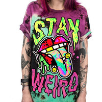 Womens Psychedelic Day- Glo T-Shirts - 10 Styles