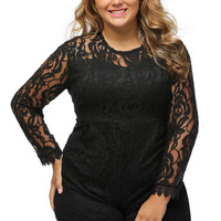 Lace Love Plus Size Romper