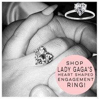Bling Jewelry Sterling Silver Heart Shaped CZ Solitaire Engagement Ring | Bling Jewelry