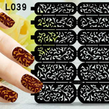 2016 New Hollowed-out Nail sticker 3D Style Stickers DIY Nail Art Decorations for Nail Polish Nail Art Tools XFLB