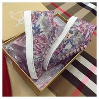 PEAP1 Christian Louboutin CL Flower Women Louis Flat