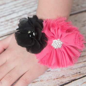 Hot Pink Baby Shower Corsage