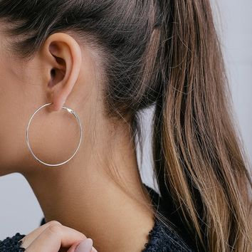 Simply Stylish Silver Hoop Earrings