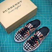 18SS Burberry Rainbow Vintage Check Classic Leisure Sandals