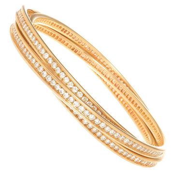 Cartier Trinity Diamond 3 band Bracelet