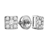 Diamond Fashion Earrings in 10k White Gold 0.5 ctw