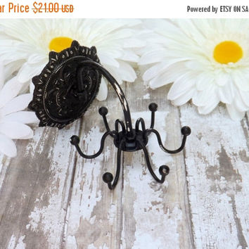 SUPER XMAS SALE Black // Jewelry Organizer // Necklace Holder //Rustic Jewelry Hook /Wall Jewelry Hanger // Necklace Organizer