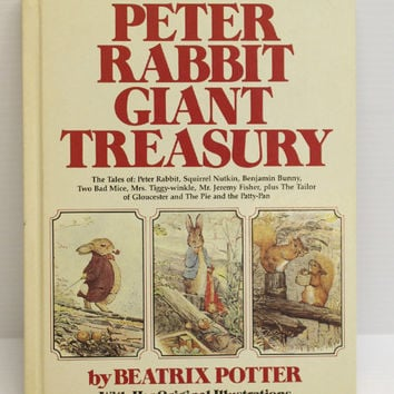 PETER RABBIT BOOK, Vintage Beatrix Potter, Vintage Peter Rabbit Giant Treasury Book, story book for child, collectible book, gift for child