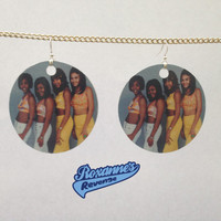 Destiny's Child Earrings FREE Shipping Worldwide Young 4 members Beyonce Ratchet LeToya LaTavia Kelly RnB Retro 90s