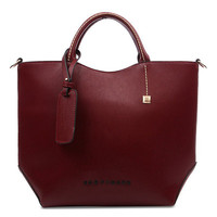 Fashion Big Leather Handbag