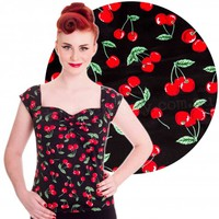 Hell Bunny Cherry Pie Rockabilly Pin Up Top | Free Shipping