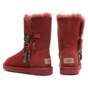 One-nice™ UGG Women Fashion Wool Snow Boots In Tube Boots Shoes