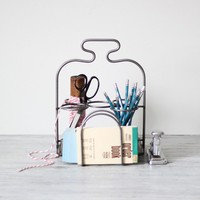 iron desktop caddy by AMradio on Etsy