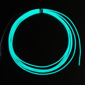 High Brightness Aqua Electroluminescent (EL) Wire - 2.5 meters [High brightness, long life] ID: 409 - $12.00 : Adafruit Industries, Unique & fun DIY electronics and kits