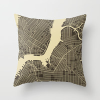 New York Throw Pillow by Jazzberry Blue
