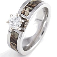 Camouflage Engagement Band