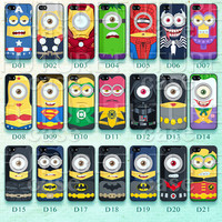 Despicable Me iPhone 5 Case Comic Superhero Minions iphone 5s case iphone 5c case Hard or Soft Case-D21