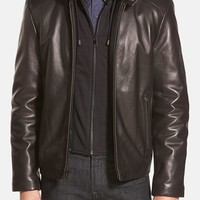 Men's Marc New York by Andrew Marc 'Stewart' Hooded Leather Jacket,