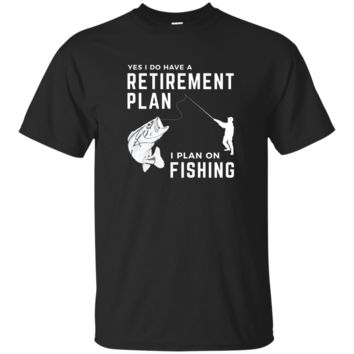 Mens Fishing Lover Mens Retirement Gift Fishing T-shirt For Men