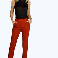 Mariee Tailored Pocket Detail Cigarette Trousers