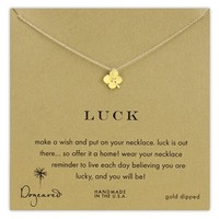 Women's Dogeared 'Luck' Clover Pendant Necklace