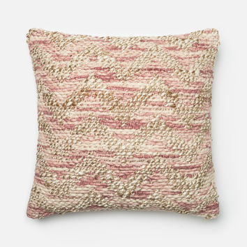 Loloi Lilac / Beige Decorative Throw Pillow (P0337)