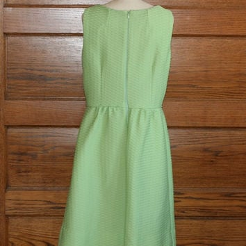 Vintage ligth green 60s dress-Retro style dress
