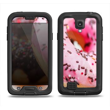 The Sprinkled Donuts Samsung Galaxy S4 LifeProof Fre Case Skin Set