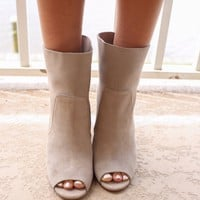 CHINESE LAUNDRY Taupe Booties